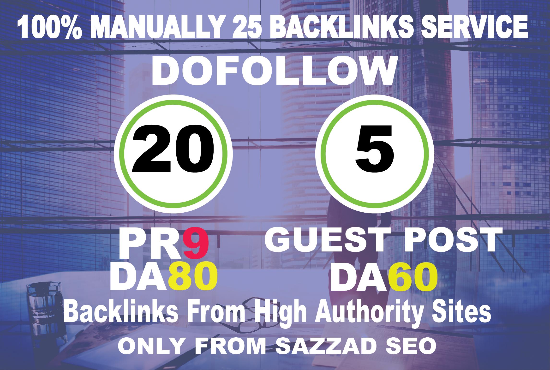 I Will Manually Do 20 PR9 DA80+5 Guest Post On DA60 SEO Backlinks