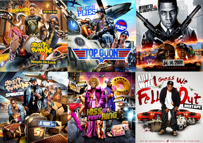 I will design attractive mixtape covers and albums