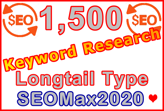 Research 1,500 Longtail Type Keywords