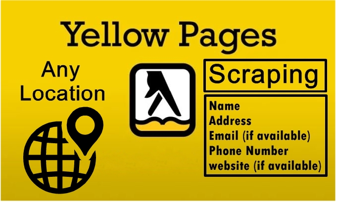 i will scrape yellowpages for business list for any