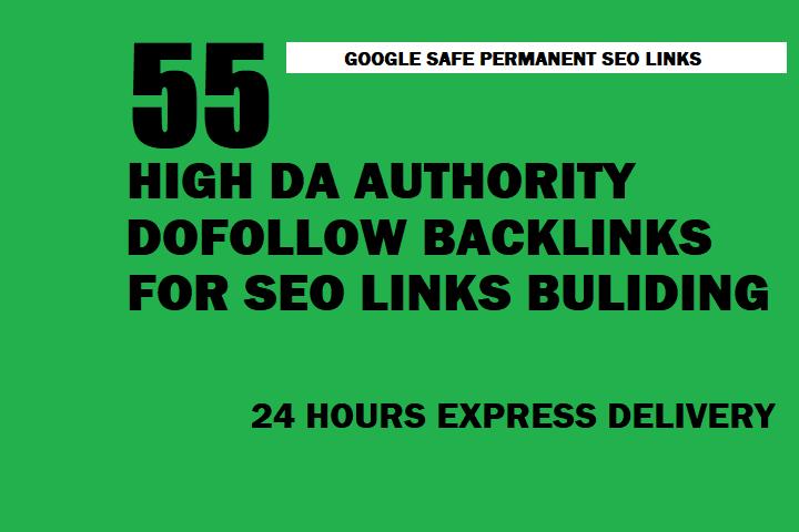 I will Create High DA Authority 55 Dofollow Backlinks