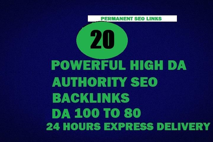 20 Powerfull High DA SEO Backlinks