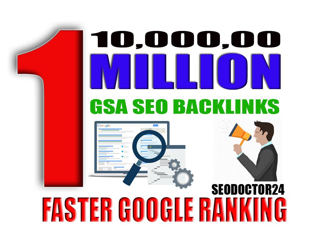 I will create 10,000, 00 gsa ser backlinks for faster google ranking