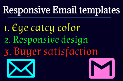 I will design premium looking email template