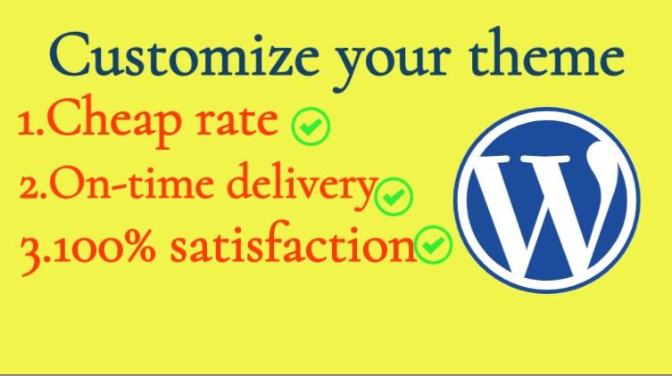 I will do all WordPress works like customize,  add plugin,  fix bug