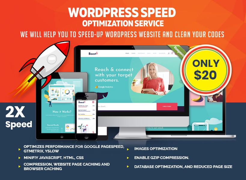 Increase 2X Wordpress speed optimization or Speed Up Wordpress