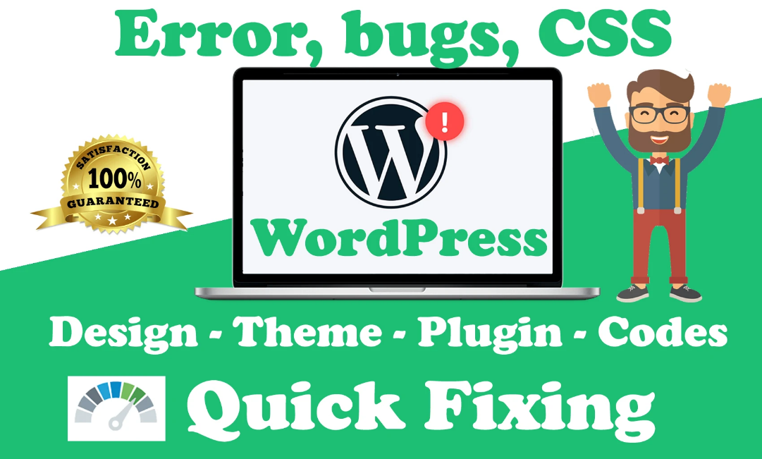 Fix Wordpress Design, Errors, Bug Or Woocommrce Issue Quickly