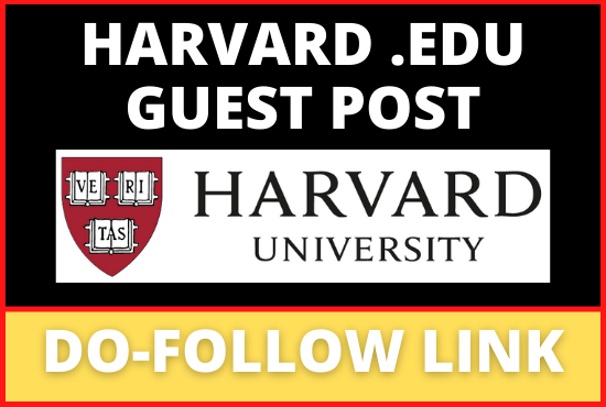 Guest Post Submission On Harvard. edu DA 95 DR 93