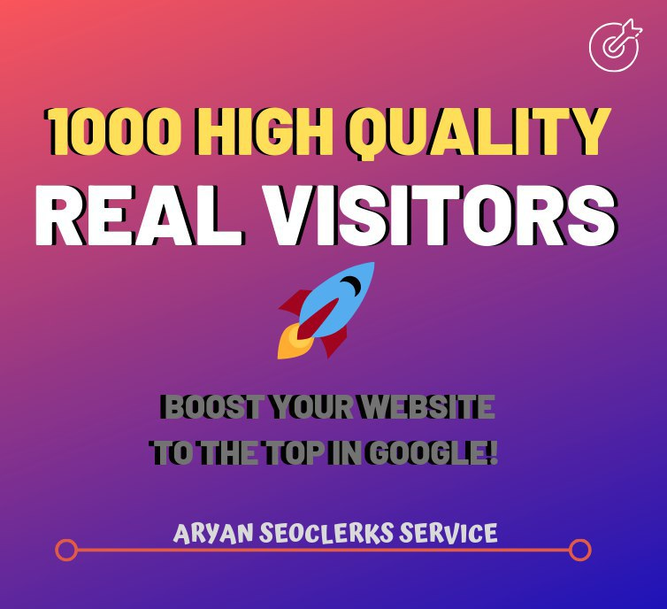 1000 High Quality Real Visitors For Your Websites