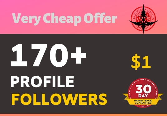 Add 170+ High Quality Super Fast profile followers