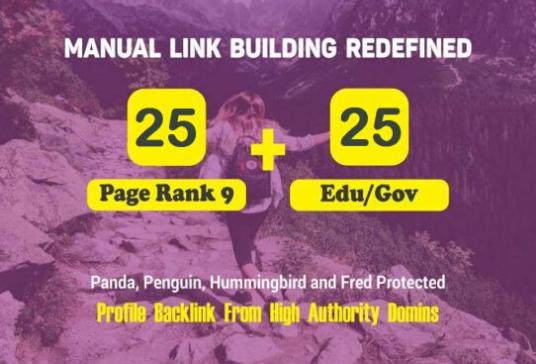 25 PR9 + 25 EDU/GOV High Authority Backlinks for Google SEO Rank