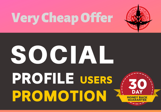 Add High Quality Super Fast Social Profile Promotion