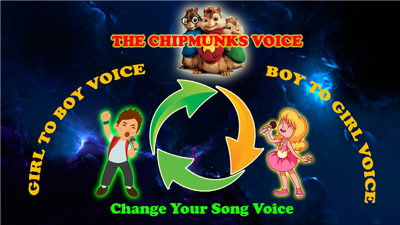 Change Your Song From Male Voice To Female Voice and Vice Versa, Or to The Chipmunks Voice
