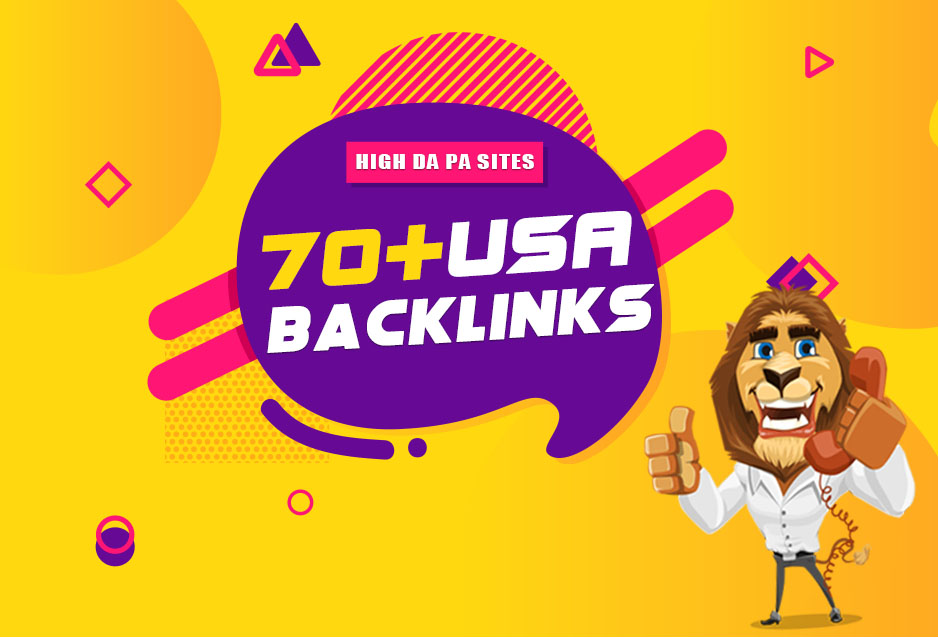 Manually Build 70+ Dofollow High Authority DA 90+ USA Backlinks