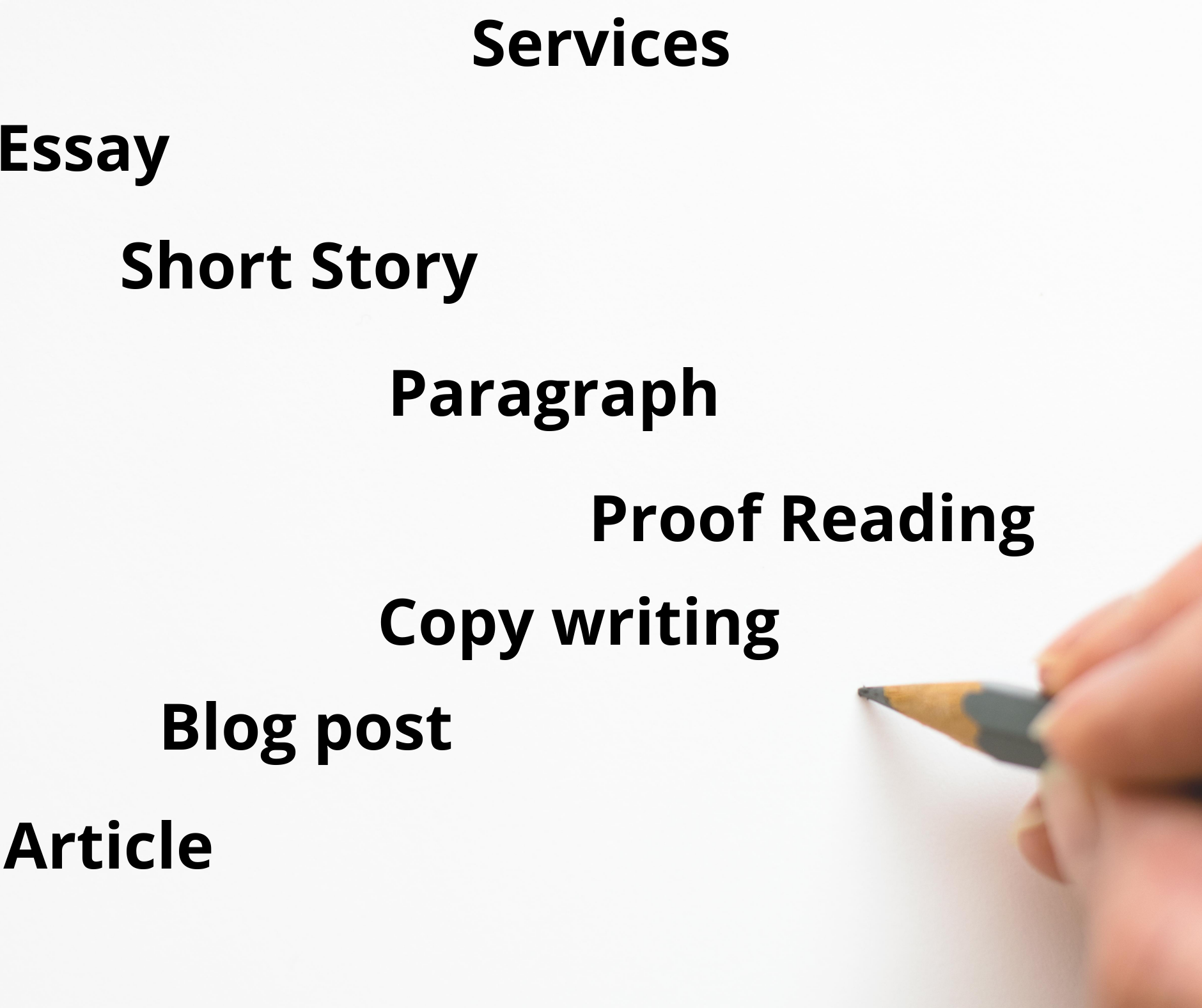 I will write articles,  essays,  blog posts and executive summary