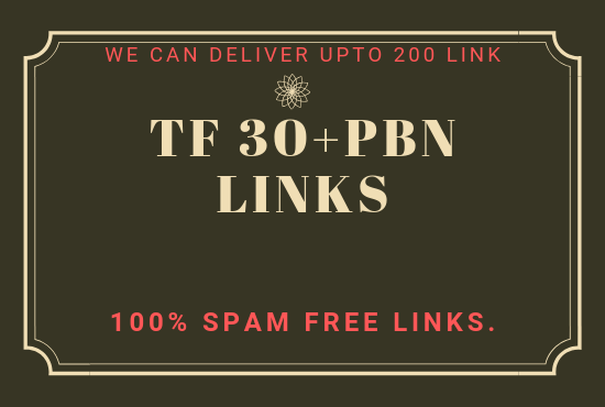 Provide you high TF 30+ PBN Backlinks