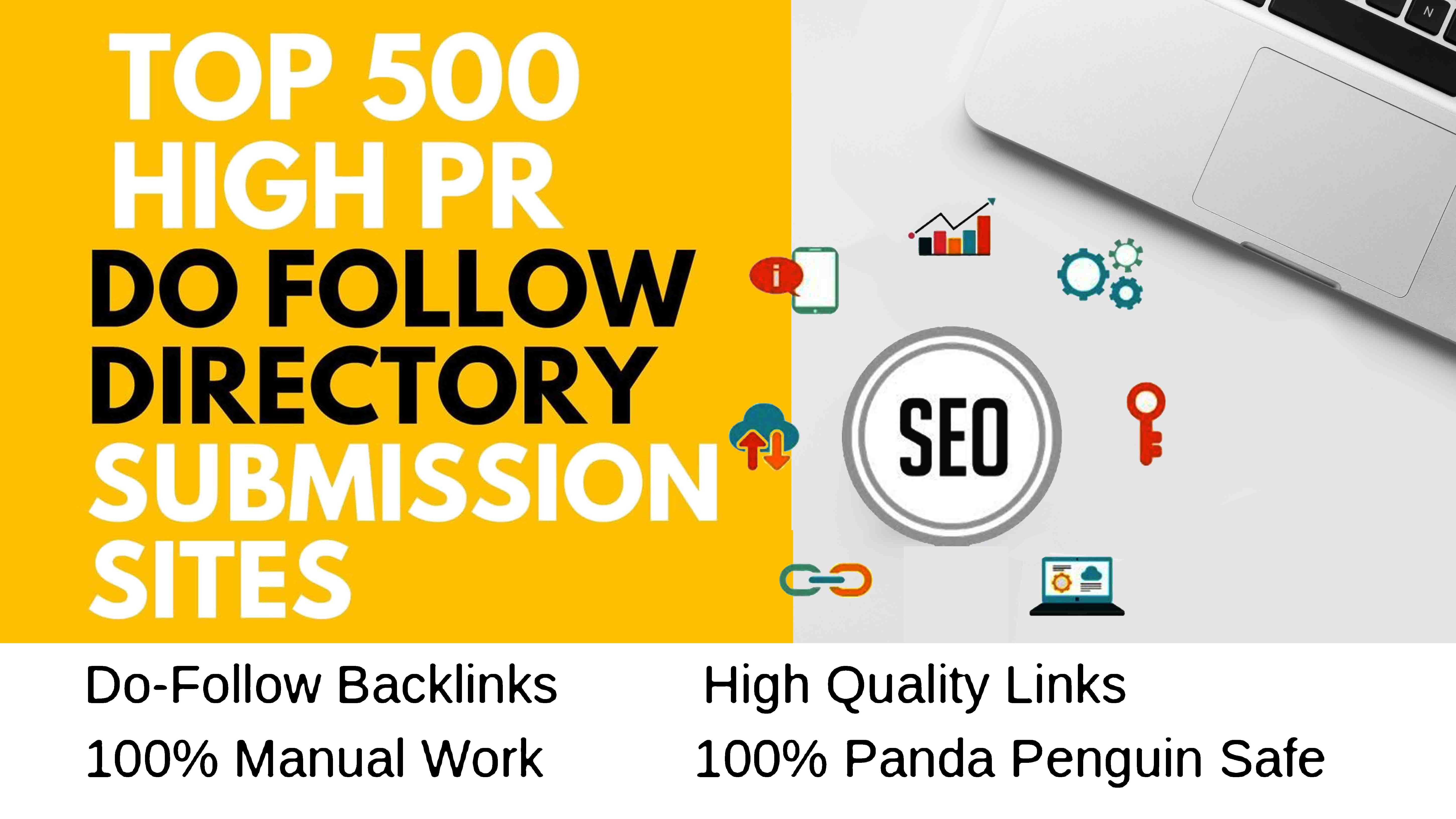 500 High PR Directory submission for your website