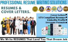 write rewrite job winning resume ,cv and cover letter