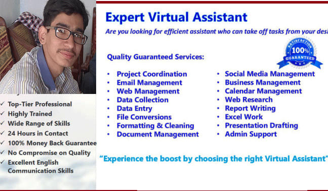 I Will Be Your All Rounder Virtual Assistant