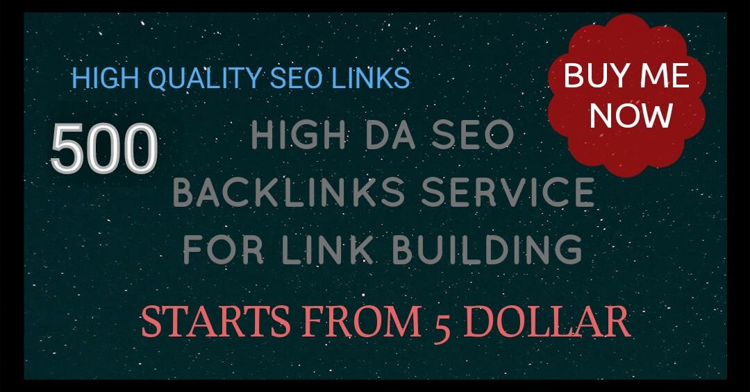 Do 500 Do-follow High PR4-PR7 Backlinks