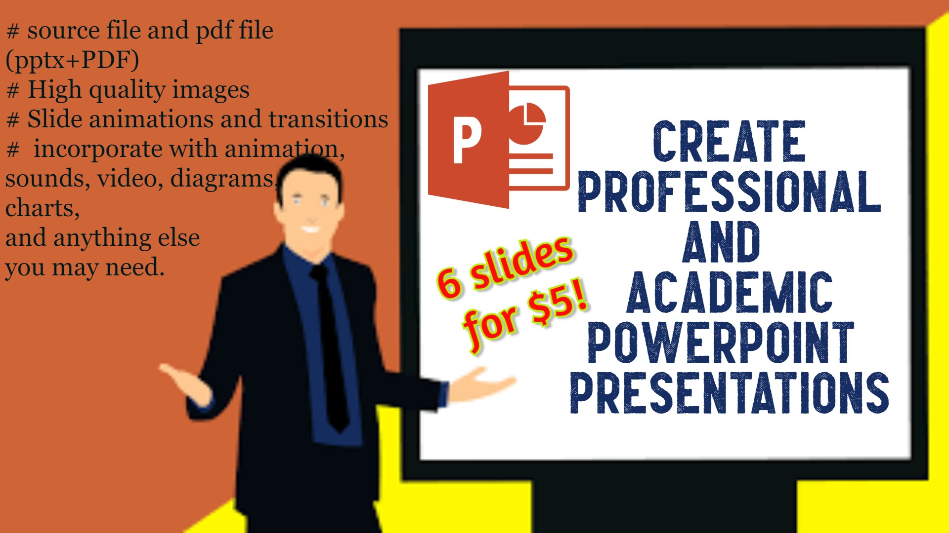 Create professional and academic ppt presentations