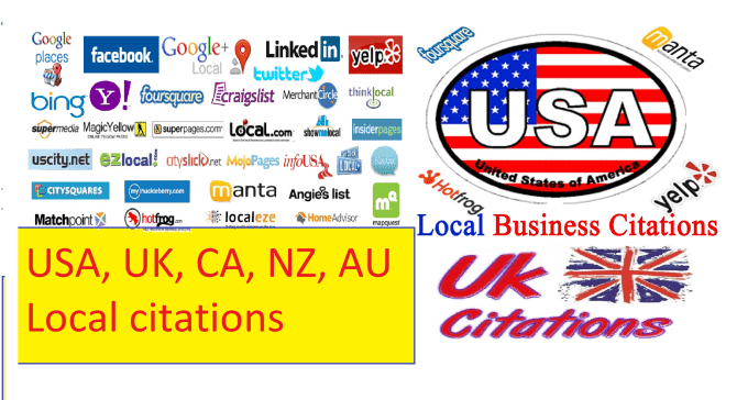 100 High DA 40 + Local Citations MANUALLY Done For Any Country