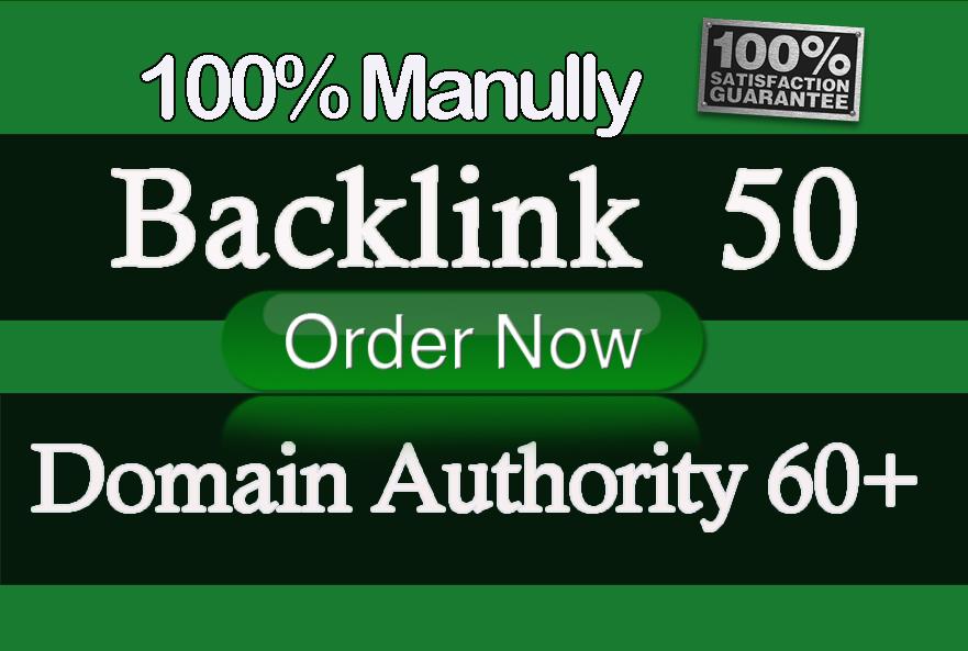 I will build high authority da, dofollow backlinks