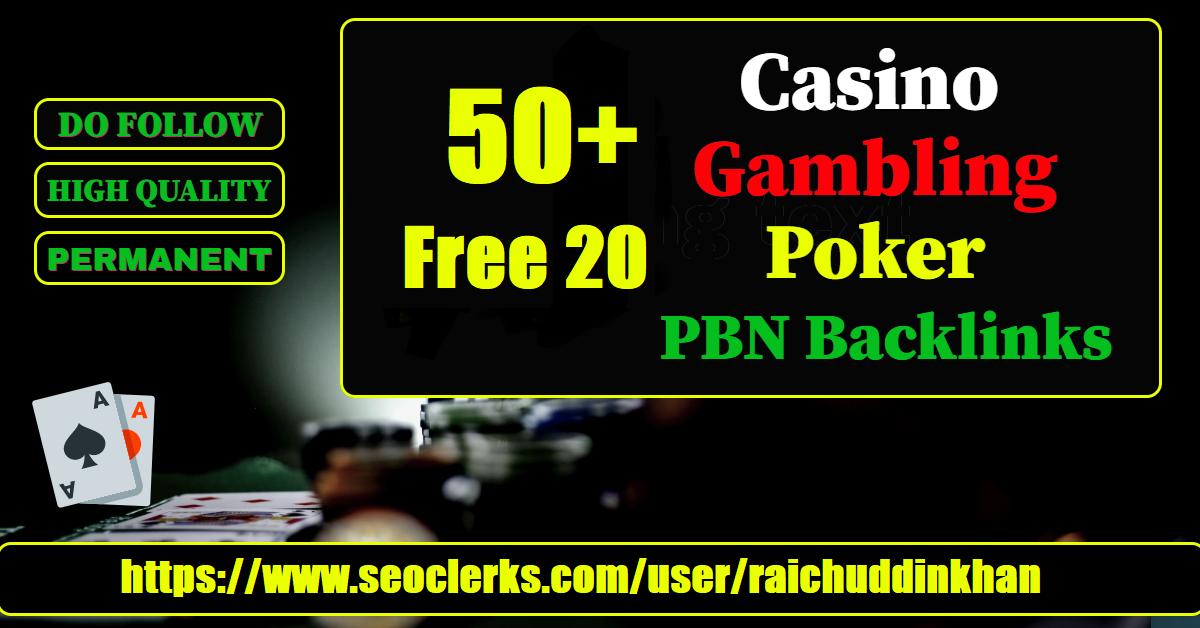 Provide Web 2.0 50+ Free 20 Casino,  Gambling,  Poker Related PBNs Blog Post
