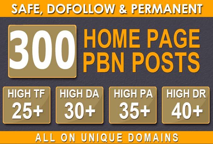300 HIGH TRUSTFLOW DA 35+ PA 35+ HOMEPAGE Web2 PBN DOFOLLOW BACKLINKS
