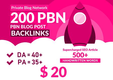 200 HIGH TRUSTFLOW DA 40+ PA 40+ HOMEPAGE Web 2.0 PBN DOFOLLOW BACKLINKS