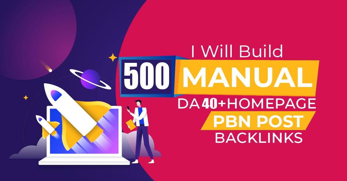 Total 500 Premium Website Home Page WEB 2.0 PBN Post DA 40+ PA 40+