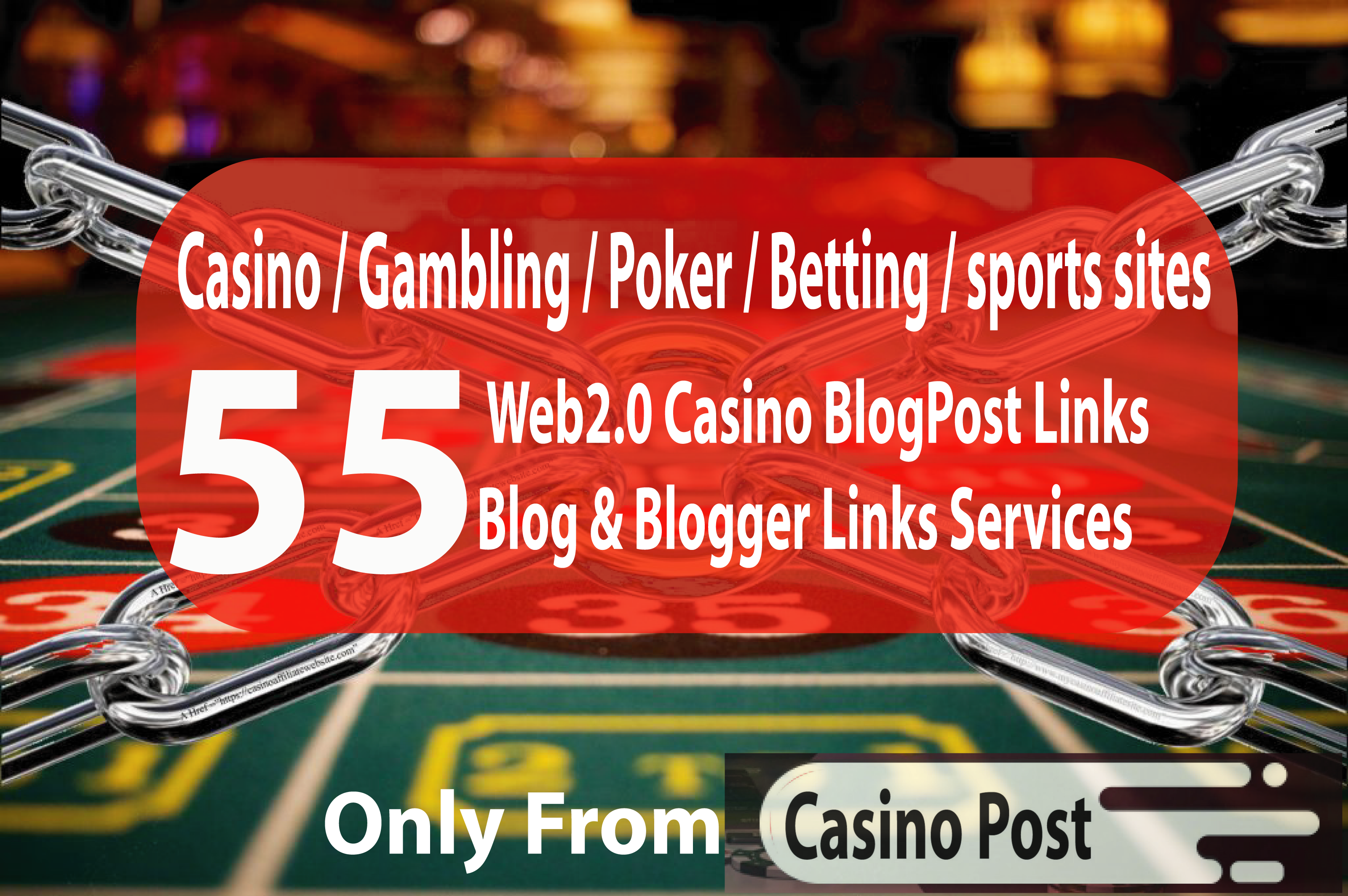 55 Advance Casino Blogpost- Casino / Gambling / Poker / Betting / sports sites From Web2.0 site