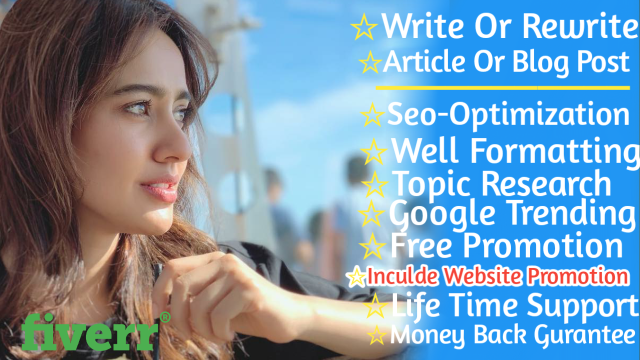 Write a high quality article for you