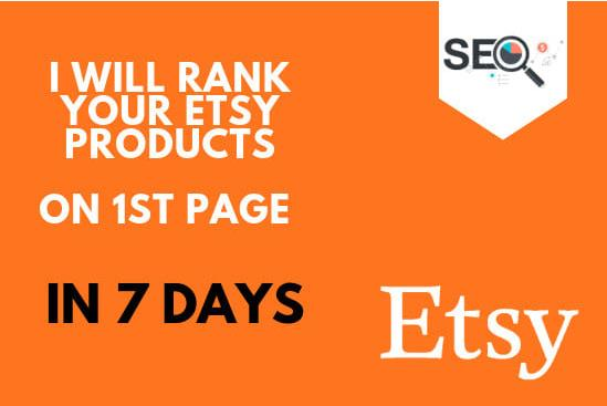 Rank Etsy Products On 1st Page