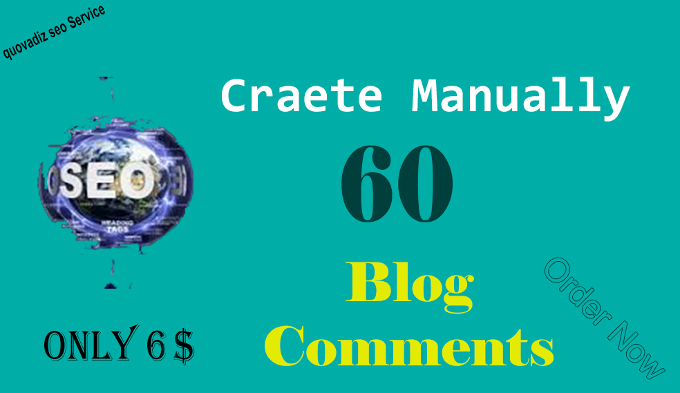 I will create 60 blog comments nofollow backlink for 6