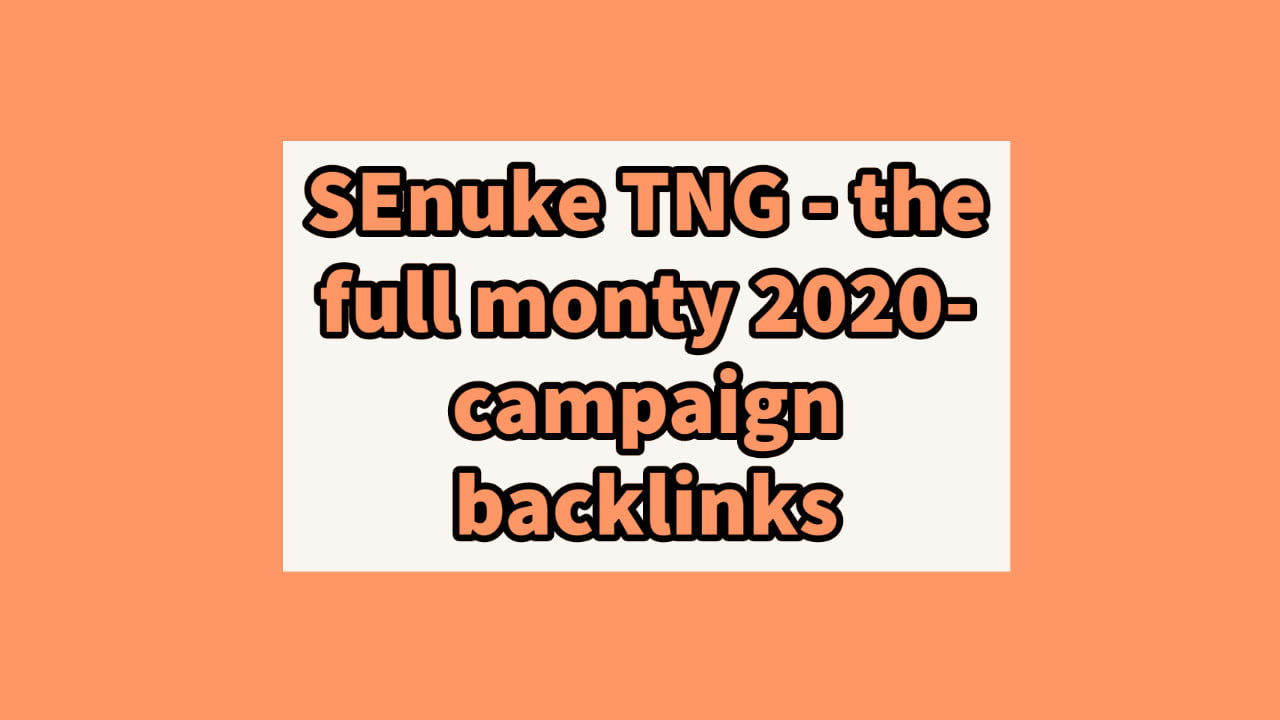 Get 25 You SEnuke TNG - The Full Monty 2020- Campaign