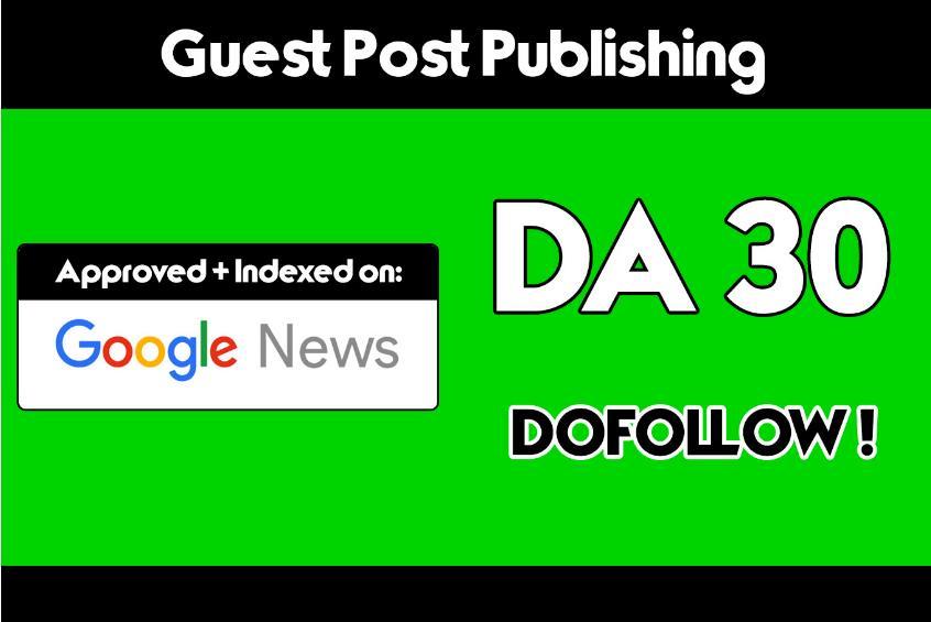 On My Da 30 Tech News Blog With Dofollow Link