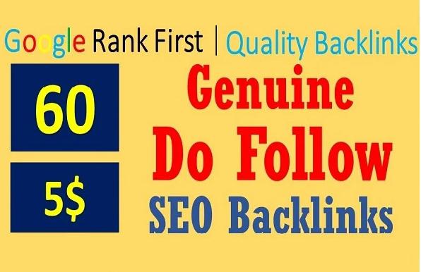 I will do 60 dofollow backlinks,high authority link building