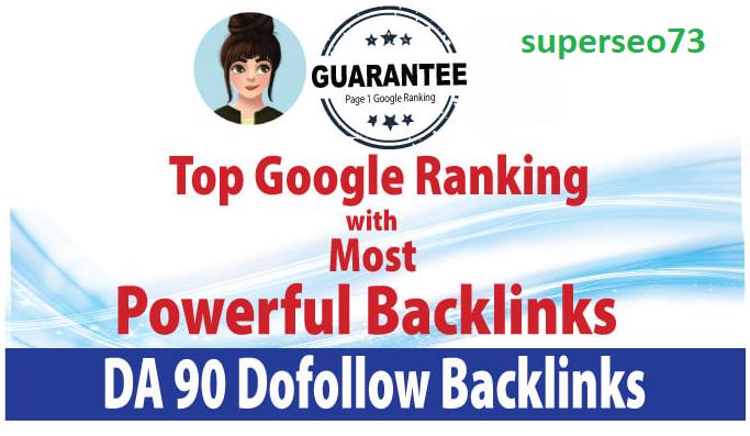 I will do top google ranking via high da 300 redirect seo backlinks