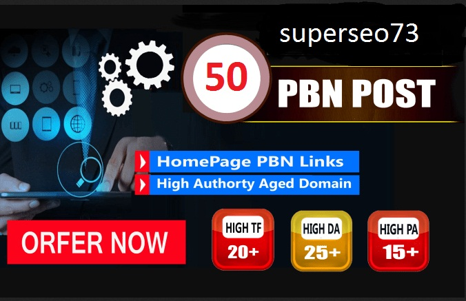 Do you 50 Pbn Backlinks With High Domain Metrics.