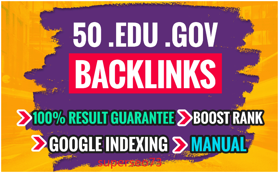 I will do trusted 50 link building,backlinks for off page SEO