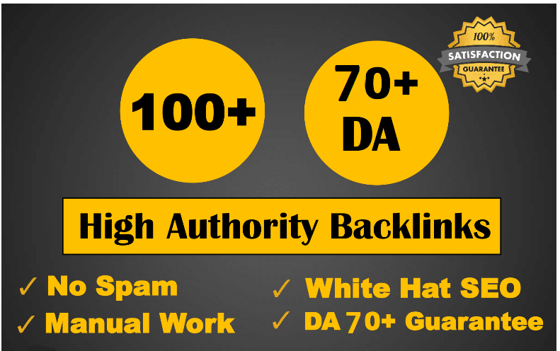 I will create 100 high da authority backlinks