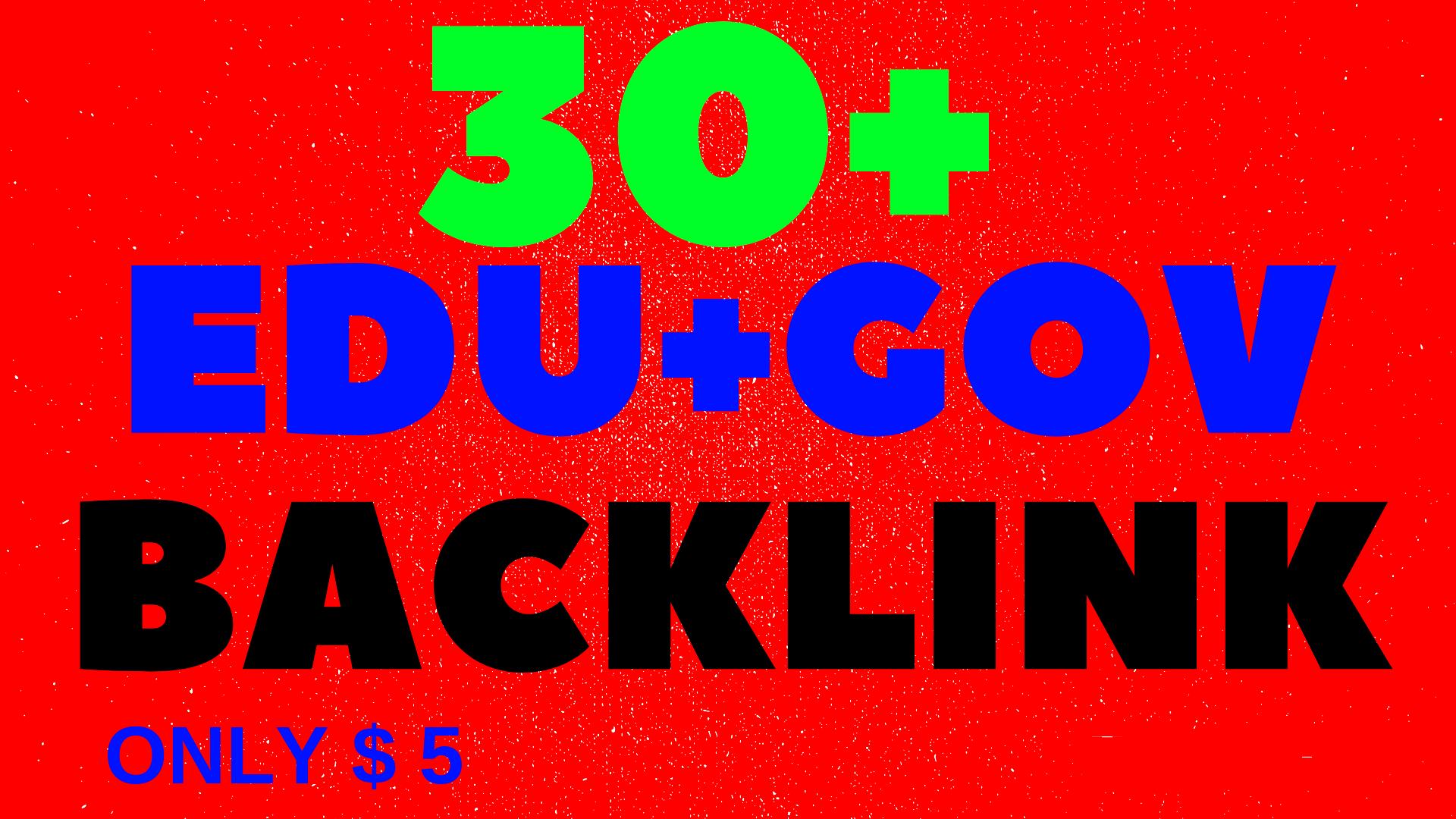 Provide 30 Edu and Gov Links from DA50 Websites only