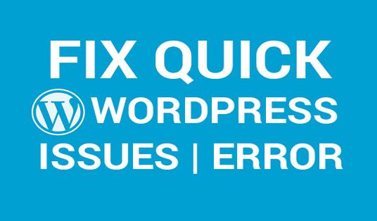 I will fix any wordpress error or issues