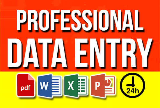Expert in Data Entry Work. example Typing, word, excel spreadsheet, pdf etc.