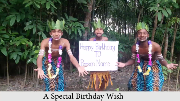 Do Special Birthday Wish Video In Jungle