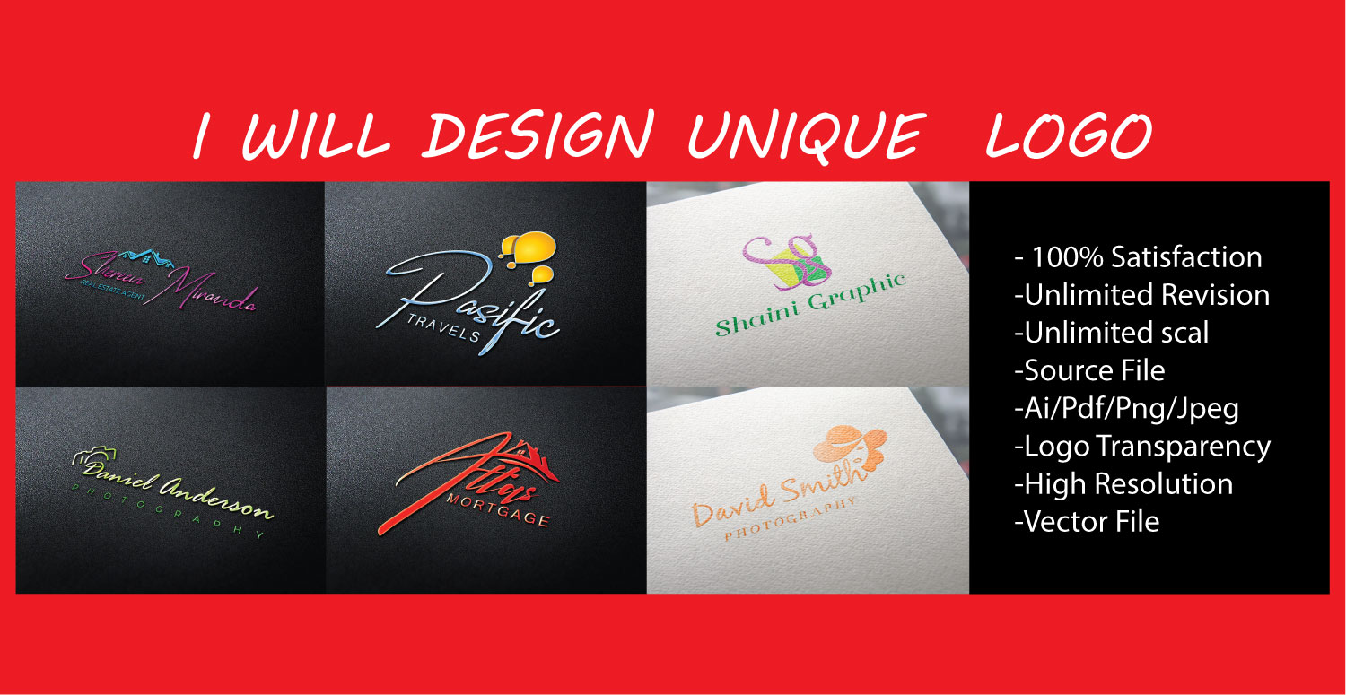 I will design create a unique logo