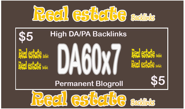 Put to DA60x7 site Real Estate blogroll permanent