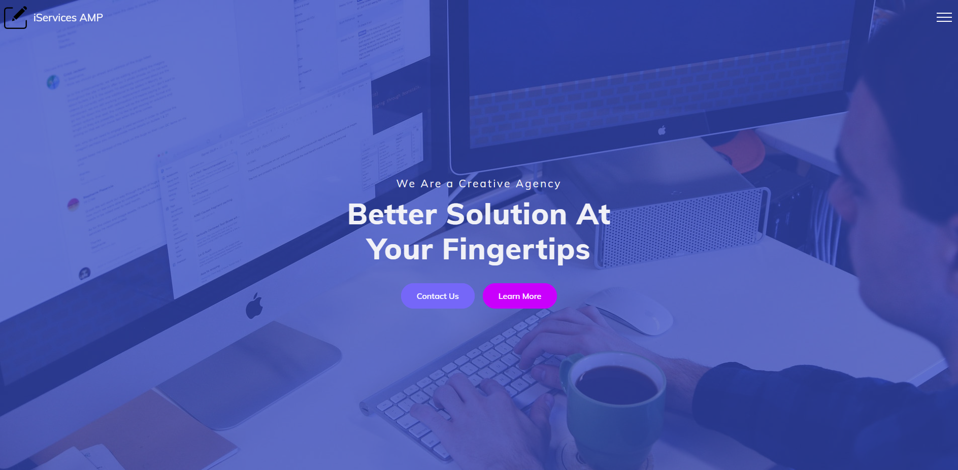 iServices AMP Template for Web Agency