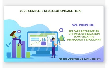 I will do your on page and off page SEO search engine optimization